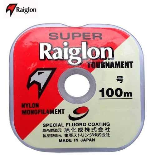 Linha Mono Raiglon 0,285mm 17,0lbs/8,0kg Branca - 100 Metros