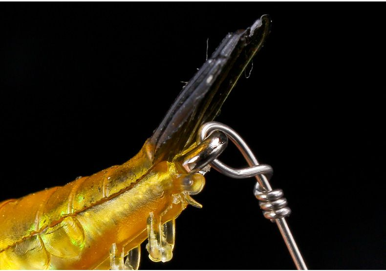 6 Iscas Artificiais Camarão C/ Anzóis, Castor E Giratório - Varias Cores  - Life Pesca - Sua loja de Pesca, Camping e Lazer