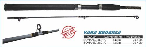 Vara P/ Molinete Bonanza 20-40lb 1,80 Metros 2 Partes - Way Fishing