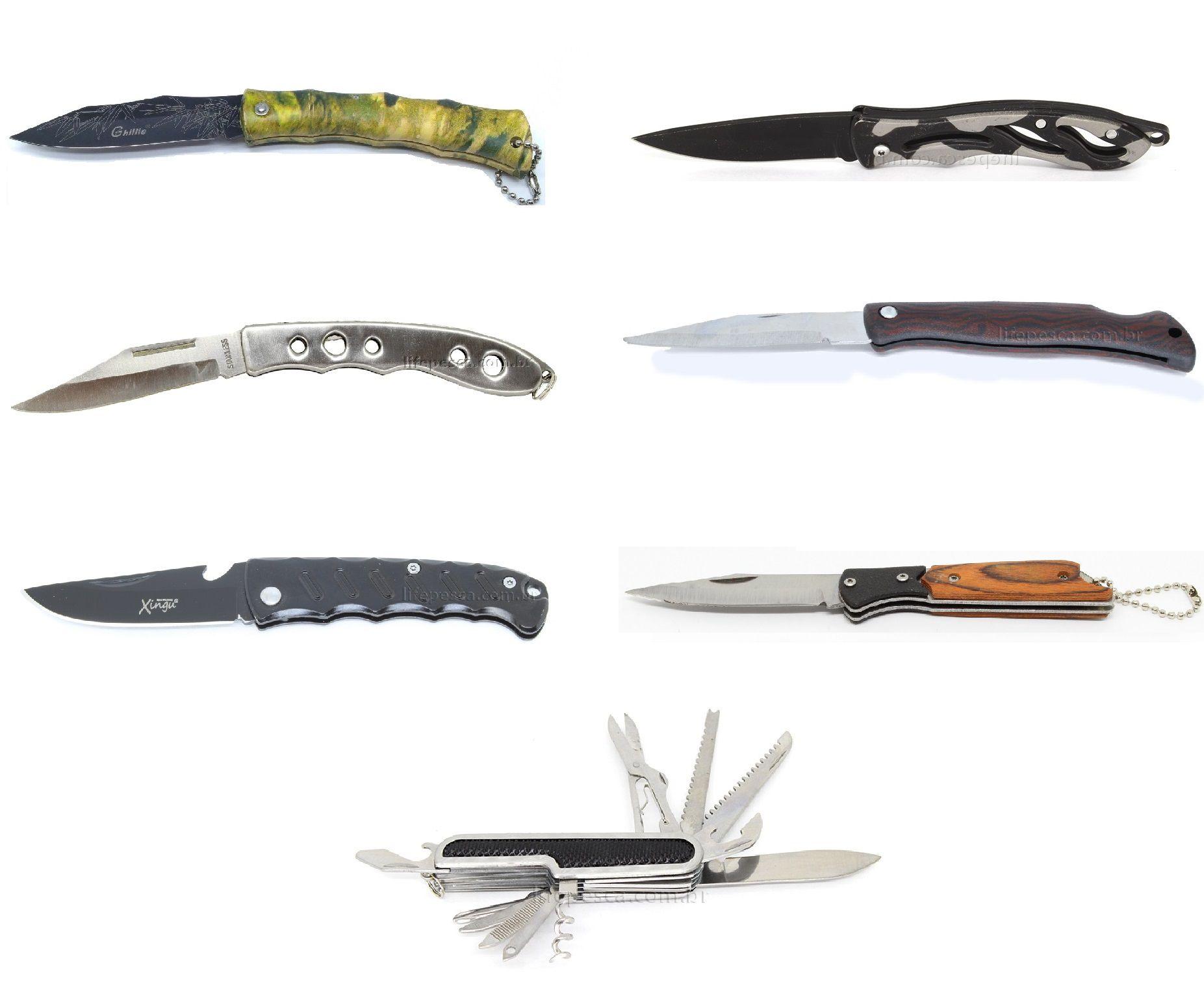 7 Canivetes Xingu Vários Modelos - Super Promoção!!!