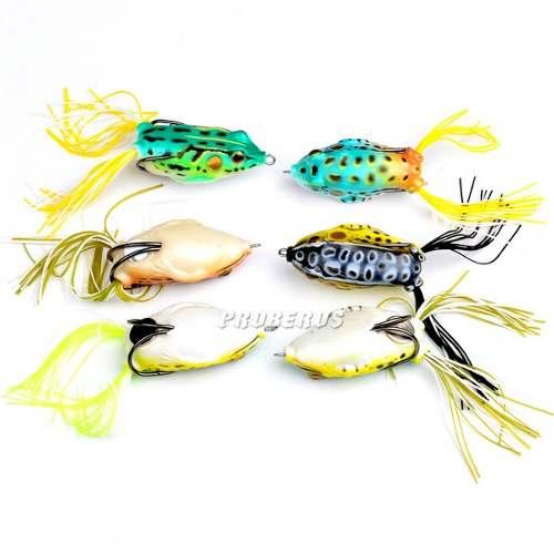 Kit 8 Iscas Artificiais - 6 Sapos Frog e 2 Ratos Mouse  - Life Pesca - Sua loja de Pesca, Camping e Lazer