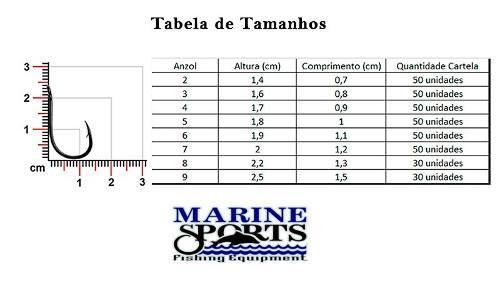 Anzol Chinu Nº 6 Nickel - Marine Sports - 50 Peças  - Life Pesca - Sua loja de Pesca, Camping e Lazer