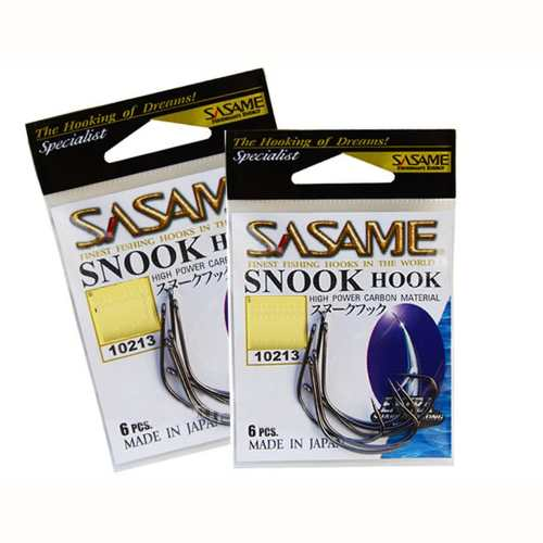 Anzol Sasame Snook Hook Nº 1/0 Black - 6 Unidades