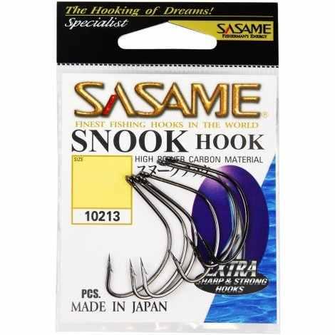 Anzol Sasame Snook Hook Nº 3/0 Black - 5 Unidades  - Life Pesca - Sua loja de Pesca, Camping e Lazer