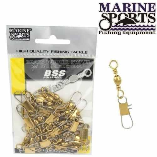 Girador C/ Snap Gold BBS Nº 3/0 - Marine Sports - 15 Peças