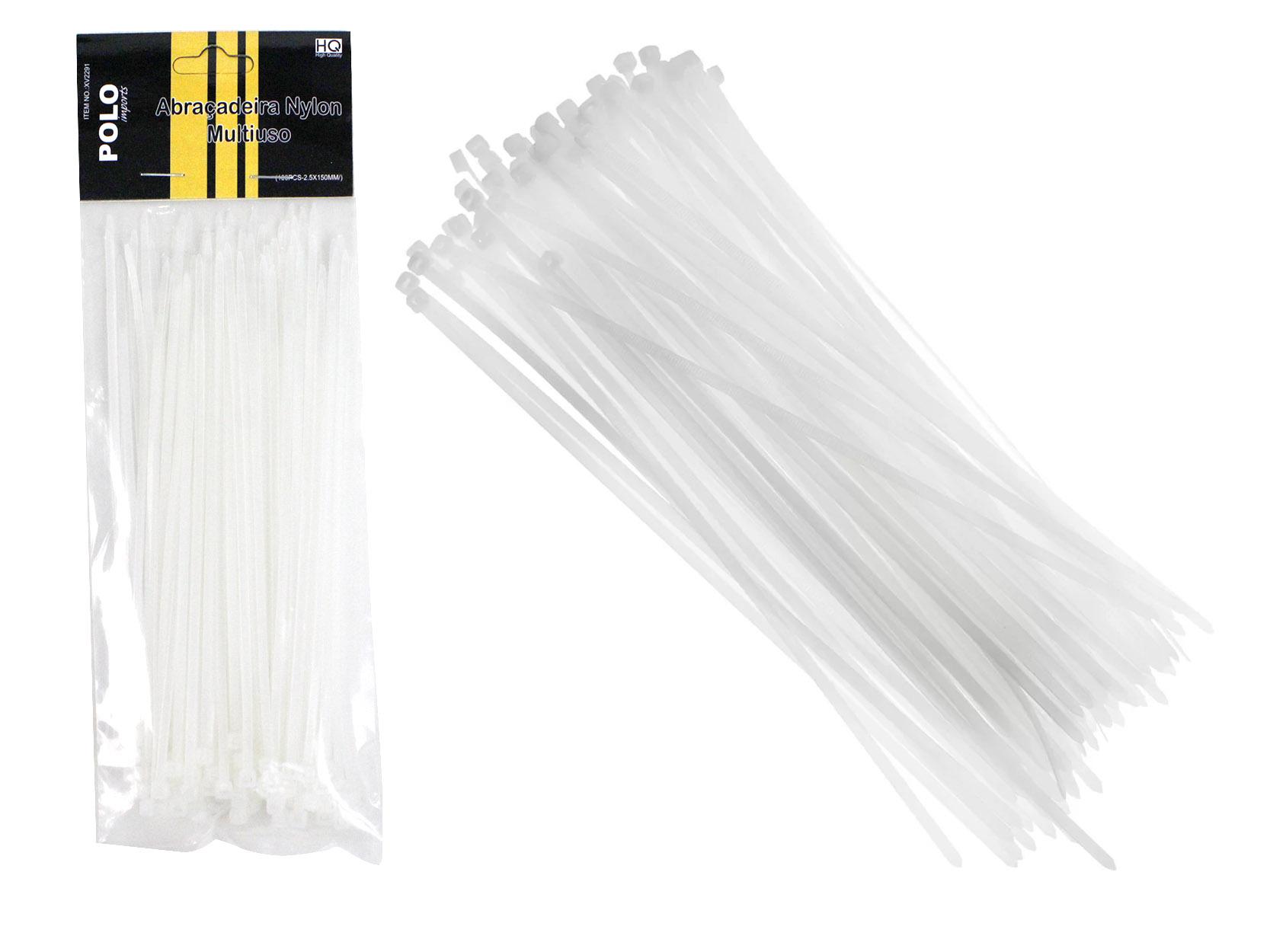 Abraçadeira de Nylon Polo Enforca Gato XV2291 (2,5 x 15cm) - 100 Peças