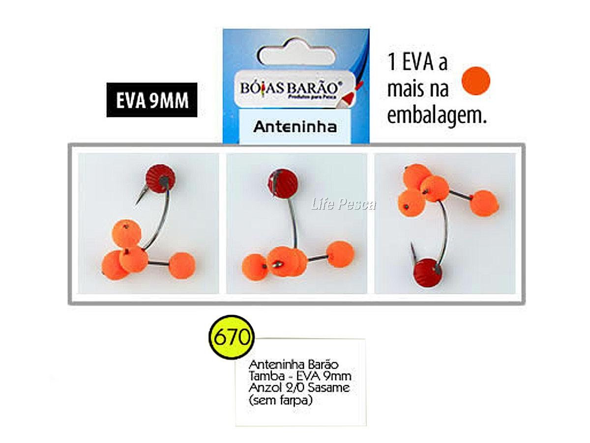 Anteninha Barão Tamba Sasame Eva 11mm Anzol 3/0 - Várias Cores