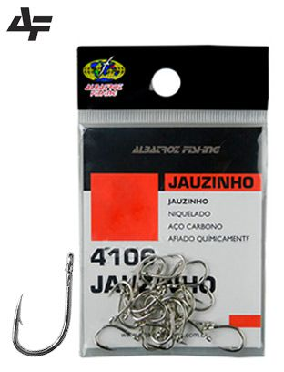 Anzol Albatroz Jauzinho 4106 Nickle N°6 - 24 Peças
