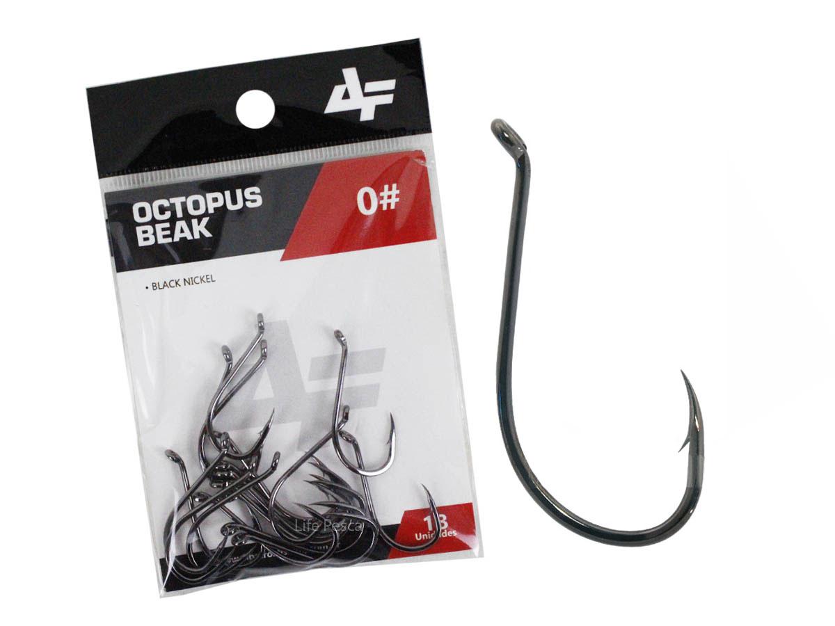 Anzol Albatroz Octopus Beak Black N° 08 - 30 Peças