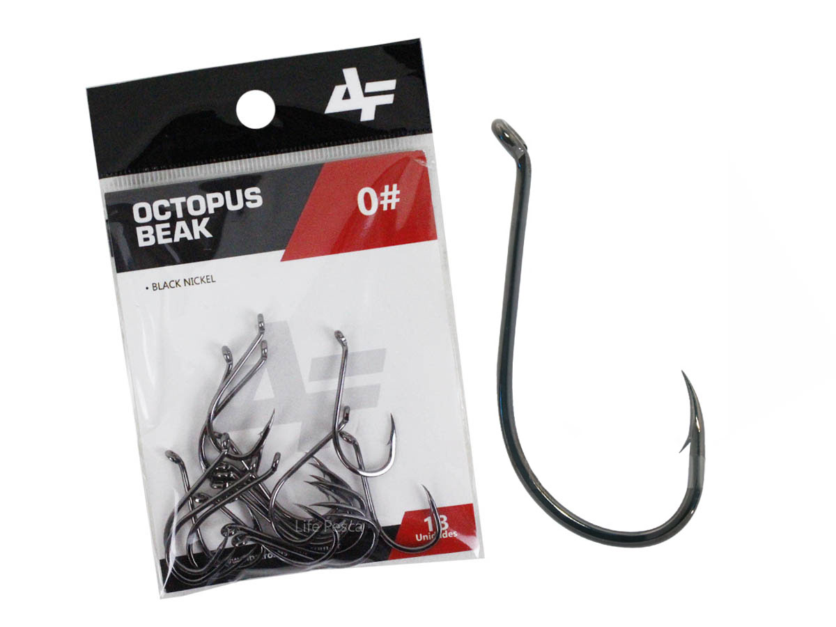 Anzol Albatroz Octopus Beak Black N° 6/0 - 6 Peças