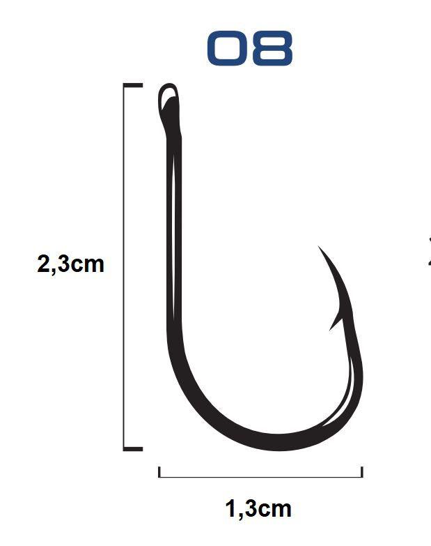 Anzol C/ Encastoado Flexível Chinu Black Nº 8 - 3 Unidades - Bóias Barão  - Life Pesca - Sua loja de Pesca, Camping e Lazer