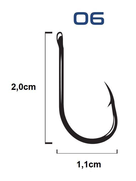 Anzol C/ Encastoado Rígido Chinu Black Nº 6 - 5 Unidades - Bóias Barão  - Life Pesca - Sua loja de Pesca, Camping e Lazer
