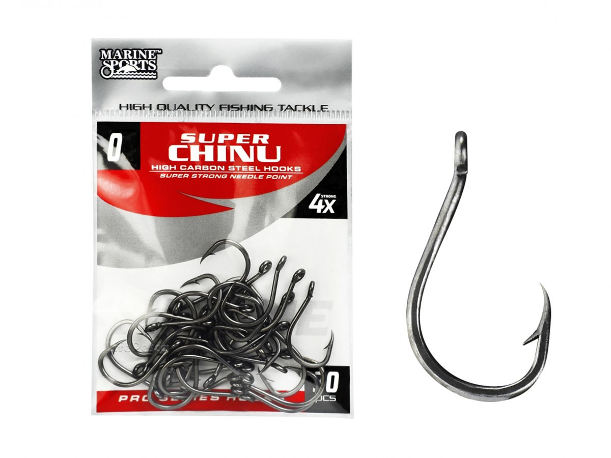 Anzol Chinu Super Strong Nº 3 Black Nickel - Marine Sports - 50 Peças