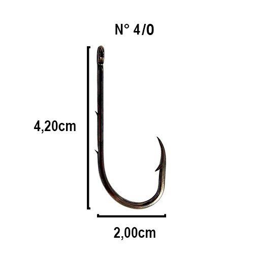 Anzol Crown Baitholder Black Nº 4/0 - 5 Peças  - Life Pesca - Sua loja de Pesca, Camping e Lazer