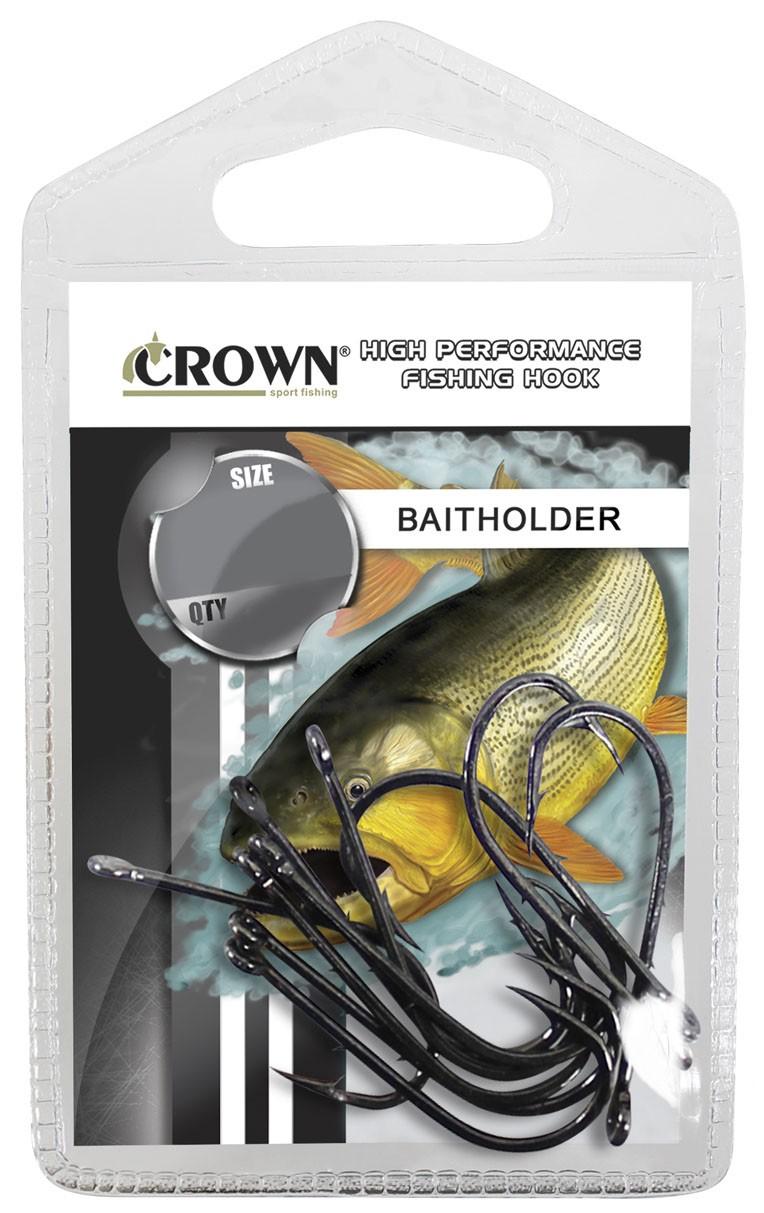 Anzol Crown Baitholder Black Nº 5/0 - 10 Peças  - Life Pesca - Sua loja de Pesca, Camping e Lazer