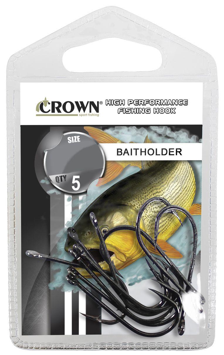 Anzol Crown Baitholder Black Nº 6/0 - 5 Peças  - Life Pesca - Sua loja de Pesca, Camping e Lazer