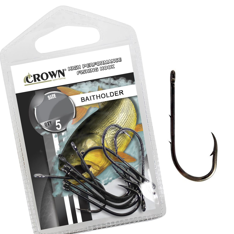Anzol Crown Baitholder Black Nº 7/0 - 5 Peças