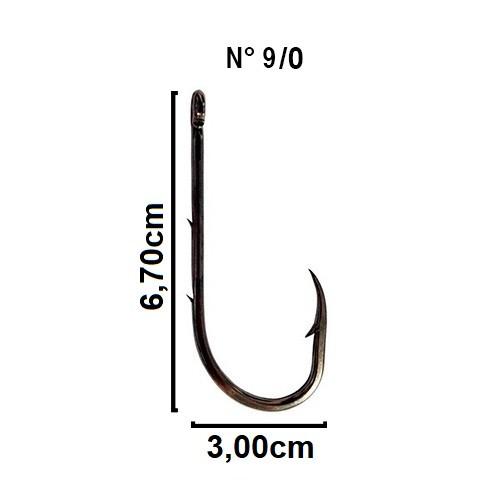 Anzol Crown Baitholder Black Nº 9/0 - 5 Peças  - Life Pesca - Sua loja de Pesca, Camping e Lazer