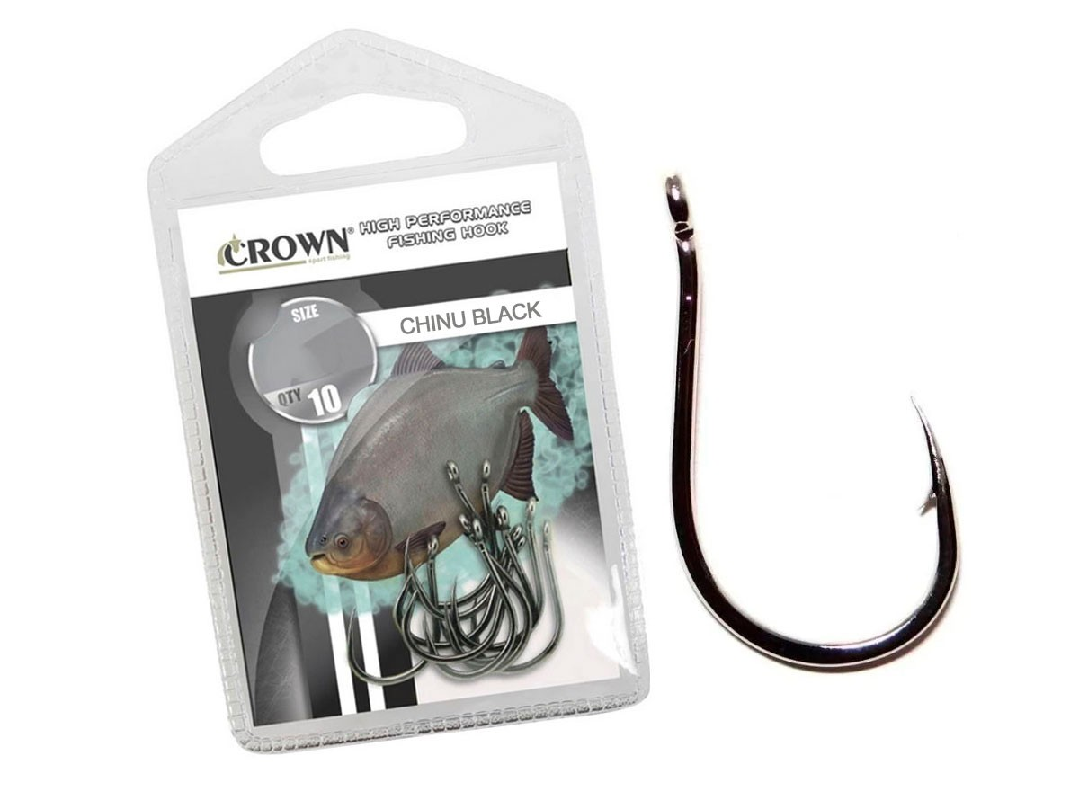 Anzol Crown Chinu Black Nº 1 - 10 Peças
