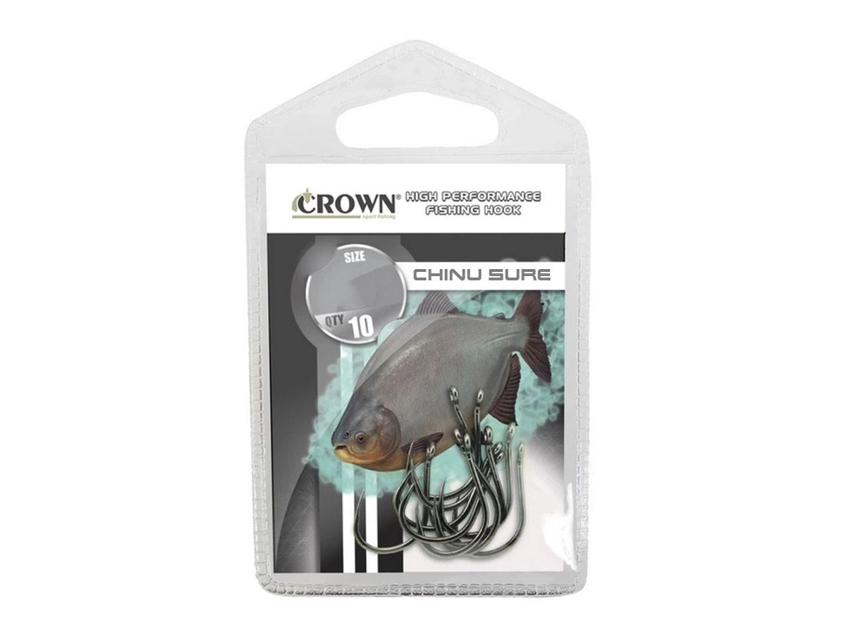 Anzol Crown Chinu Sure Black Nº 12 - 10 Peças