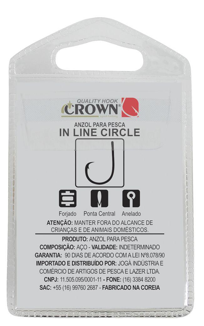 Anzol Crown in Line Circle Black Nº 6/0 - 6 Peças  - Life Pesca - Sua loja de Pesca, Camping e Lazer