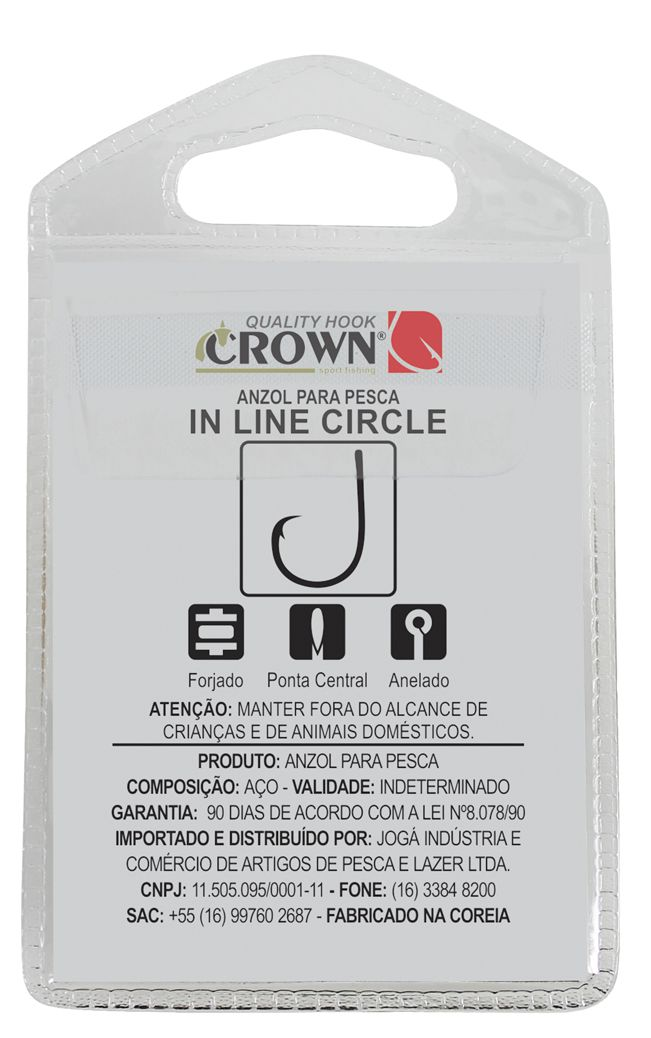Anzol Crown in Line Circle Black Nº 8/0 - 6 Peças  - Life Pesca - Sua loja de Pesca, Camping e Lazer