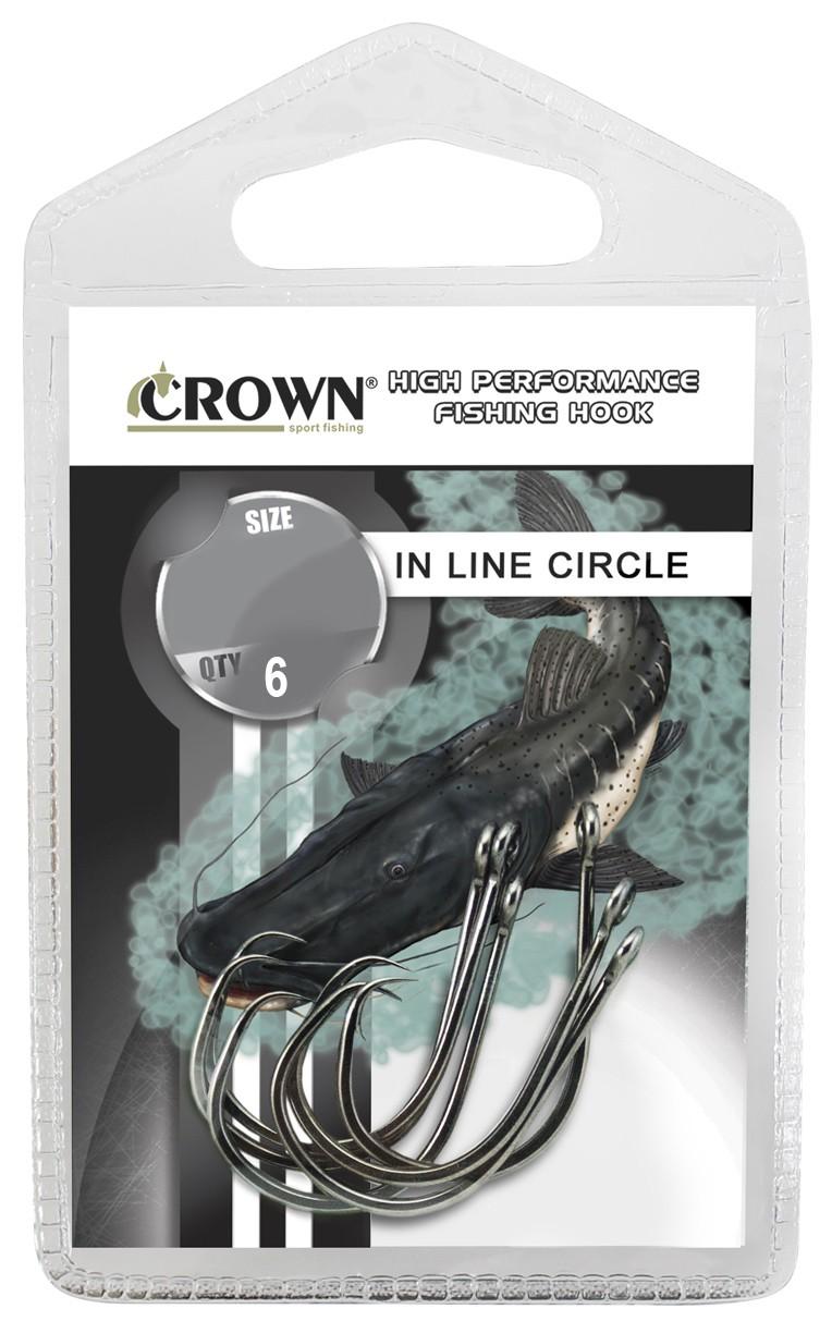 Anzol Crown in Line Circle Black Nº 9/0 - 6 Peças  - Life Pesca - Sua loja de Pesca, Camping e Lazer