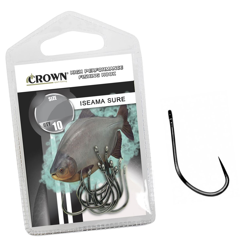 Anzol Crown Iseama Sure Black Nº 12 - 10 Peças