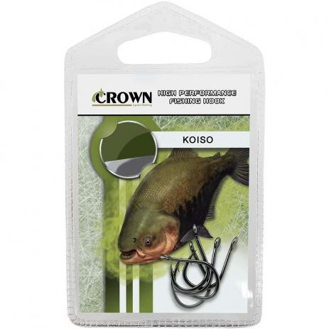 Anzol Crown Koiso Black N°08 - 10 Peças