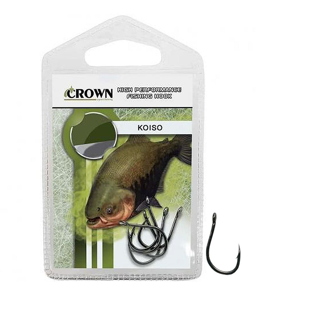Anzol Crown Koiso Black N°08 - 10 Peças  - Life Pesca - Sua loja de Pesca, Camping e Lazer