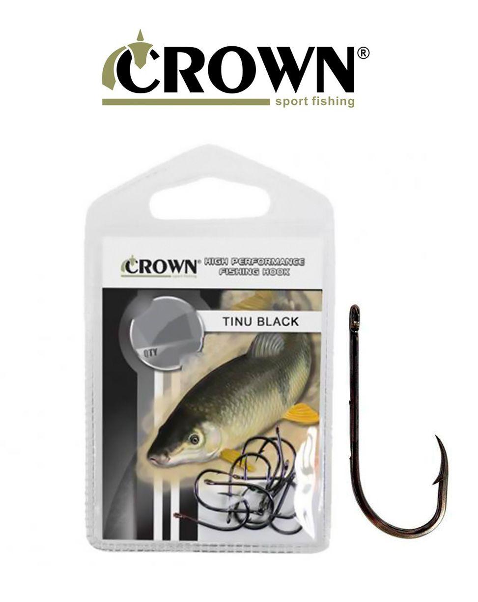 Anzol Crown Tinu Black N°8 - 10 Peças
