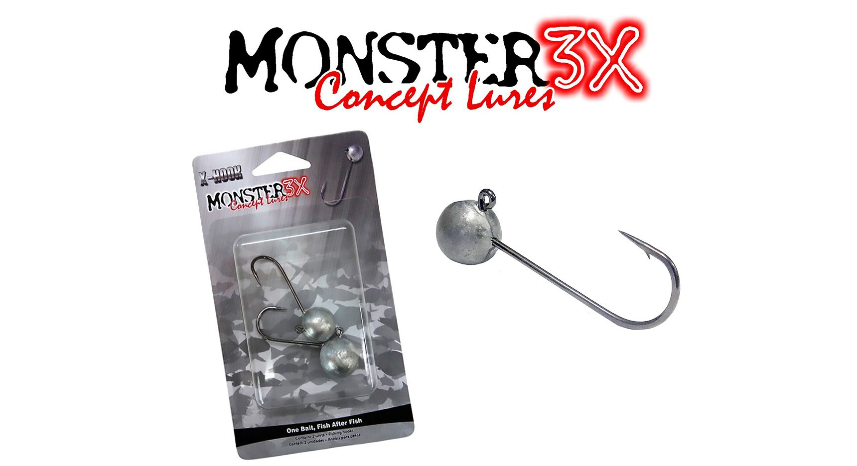 Anzol Jig Head Super Ball 3/0 9gr - Monster 3X