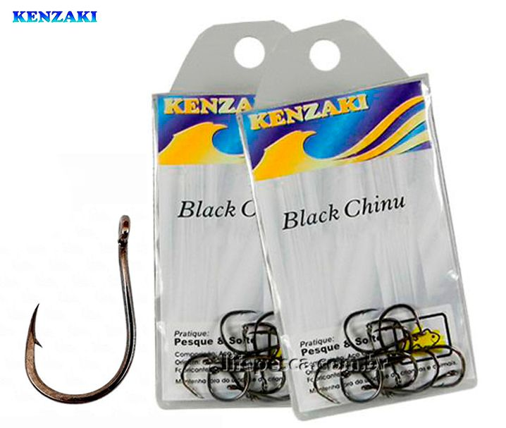 Anzol Kenzaki Chinu Black N°07 - 10 Peças