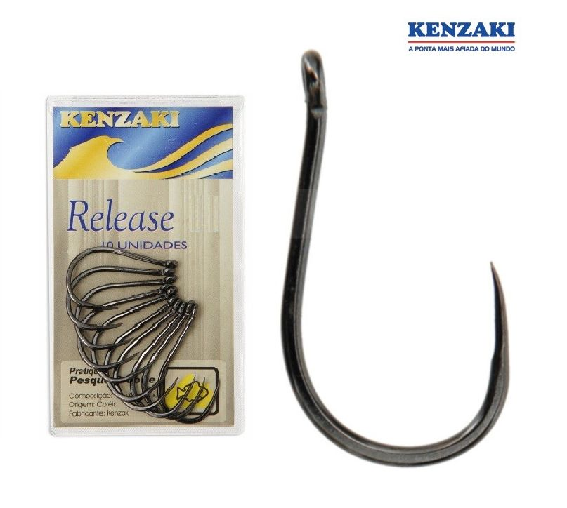 Anzol Kenzaki Release N° 5 - Anzol Sem Fisga - 20 Peças