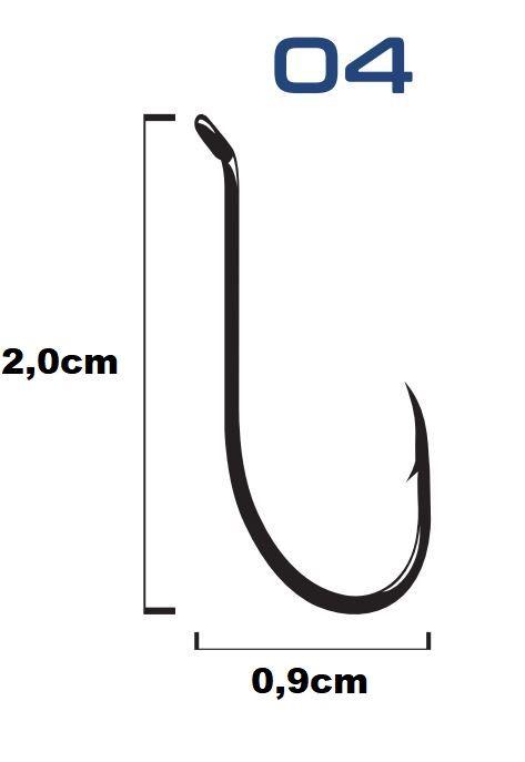 Anzol Marine Sports 12146 N° 4 Black - 50 Peças  - Life Pesca - Sua loja de Pesca, Camping e Lazer
