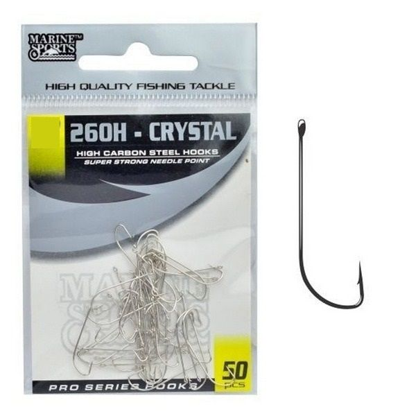 Anzol Marine Sports 260H Crystal N° 12 Nickel - 50 Peças