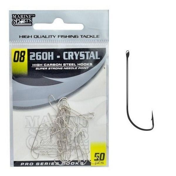 Anzol Marine Sports 260H Crystal N° 8 Nickel - 50 Peças