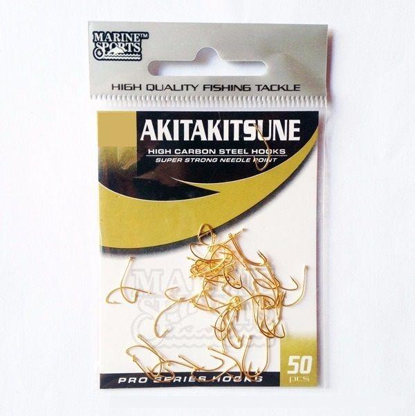 Anzol Marine Sports Akita-Kitsune Gold Vários Tamanhos - 50 Peças  - Life Pesca - Sua loja de Pesca, Camping e Lazer