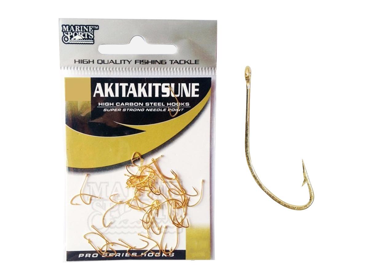 Anzol Marine Sports Akita-Kitsune Gold Vários Tamanhos - 50 Peças