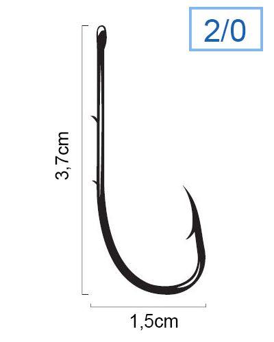 Anzol Marine Sports Super Strong 4330 N° 2/0 (3,7cm) C/ Farpas - 100 Peças  - Life Pesca - Sua loja de Pesca, Camping e Lazer