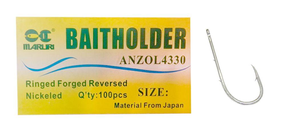 Anzol Maruri Baitholder 4330 Nº 8/0 - Com Farpas - 100 Peças