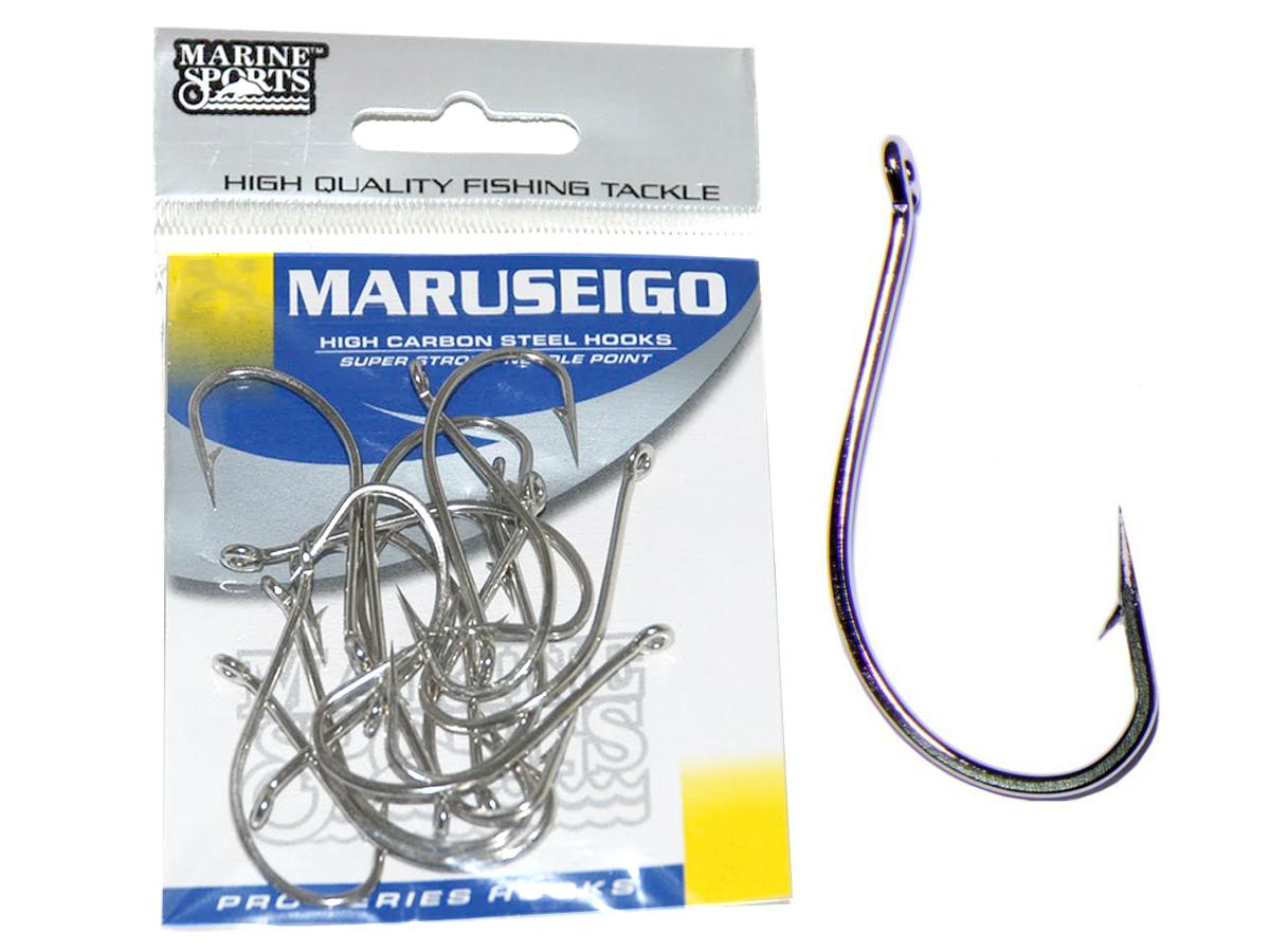 Anzol Maruseigo Nº 24 Nickel - Marine Sports - 15 Peças  - Life Pesca - Sua loja de Pesca, Camping e Lazer