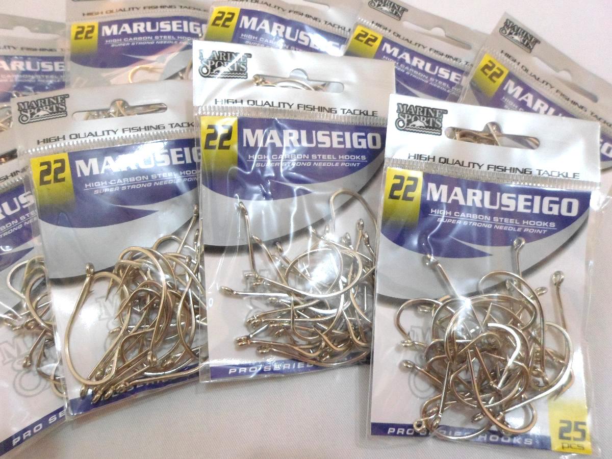 Anzol Maruseigo Nº 26 Nickel - Marine Sports - 15 Peças  - Life Pesca - Sua loja de Pesca, Camping e Lazer