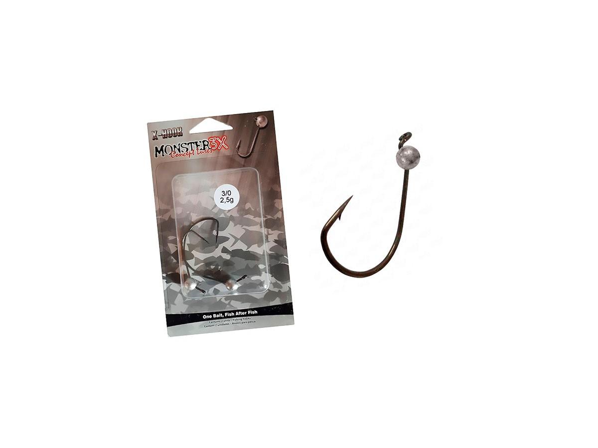 Anzol Off Set Jig 3/0 (2,5gr) - Monster 3X - Cartela C/ 2 Unidades  - Life Pesca - Sua loja de Pesca, Camping e Lazer
