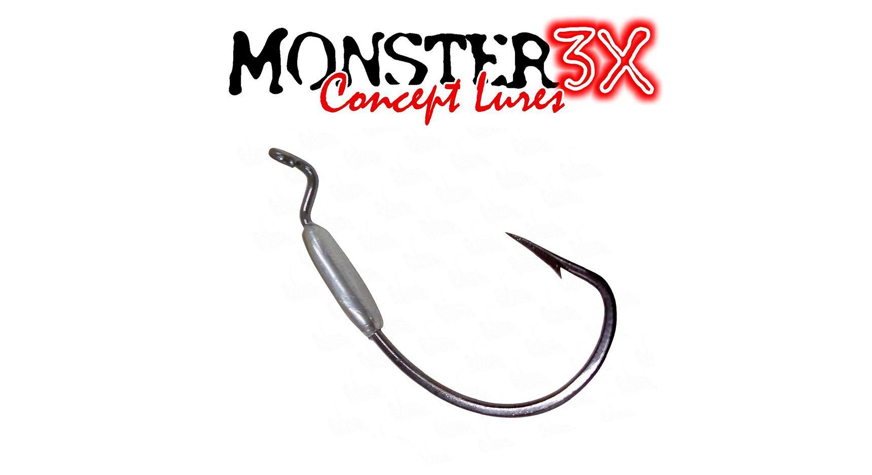 Anzol Off Set Lastreado EWG 4/0 (2,5g) - Monster 3X  - Life Pesca - Sua loja de Pesca, Camping e Lazer