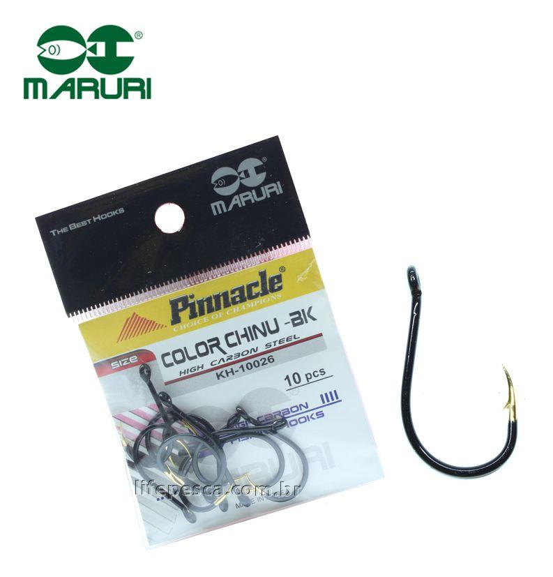 Anzol Pinnacle Color Chinu Black Nº 6 (2,00cm) - 10 Peças