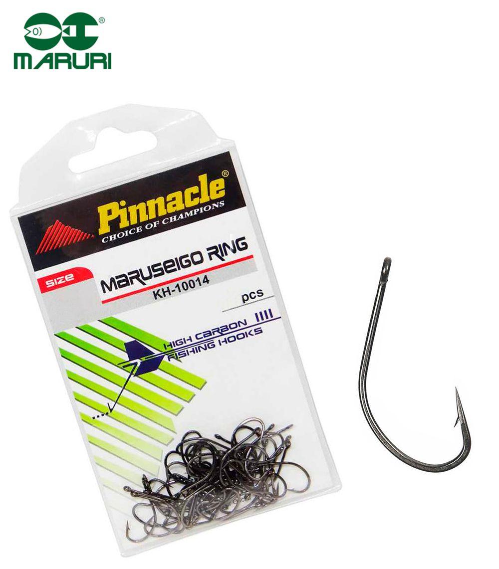 Anzol Pinnacle Maruseigo Ring Black Nº 12 (1,8cm) - 50 Peças