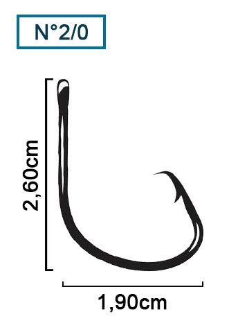 Anzol Pinnacle Mutsu Ring Light Black Nº 2/0 (2,60cm) - 10 Peças  - Life Pesca - Sua loja de Pesca, Camping e Lazer