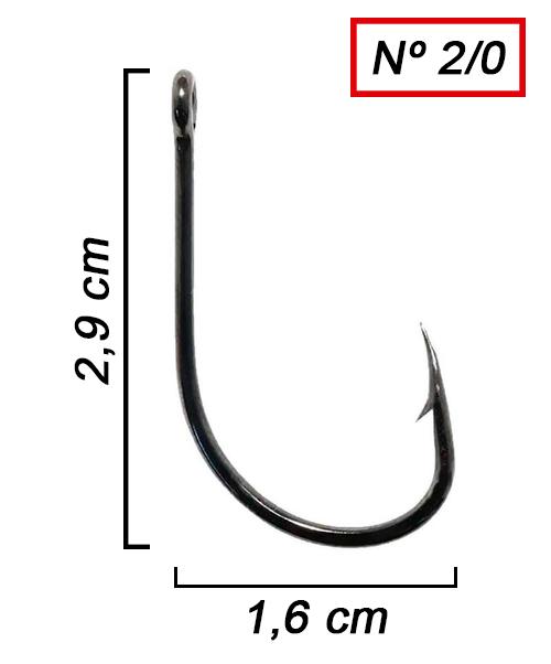 Anzol Pinnacle Pacu Nº 2/0 - 25 Peças  - Life Pesca - Sua loja de Pesca, Camping e Lazer