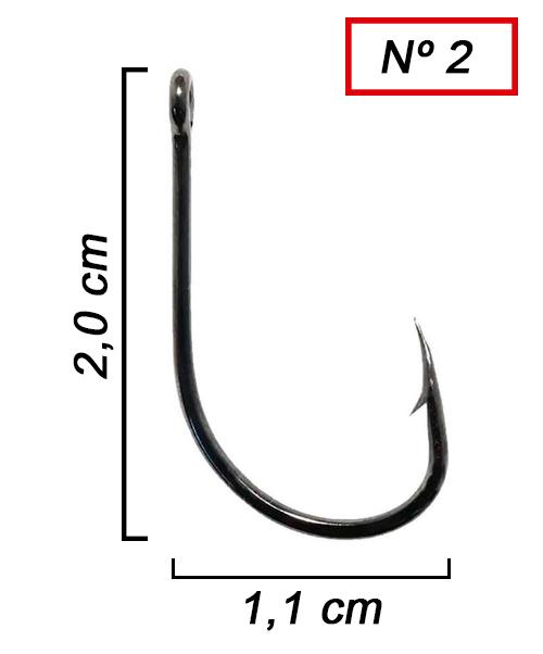 Anzol Pinnacle Pacu Nº 2  - 50 Peças  - Life Pesca - Sua loja de Pesca, Camping e Lazer